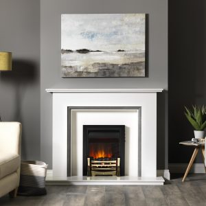 1860 Black Farndon Electric Fire